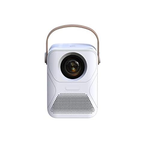 ABCD Inicio HD 1080P Proyector portátil, Teléfono móvil de Office WiFi con Cine en casa, Compatible con TV Stick, HDMI, VGA, USB, computadora portátil, iOS y Android