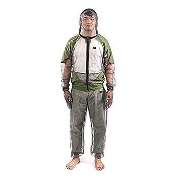 Combinaison anti-moustiques, répulsive à capuche, ultra fine, unisexe, pour la pêche, la randonnée, le camping, le jardinage (randonnée, XL)