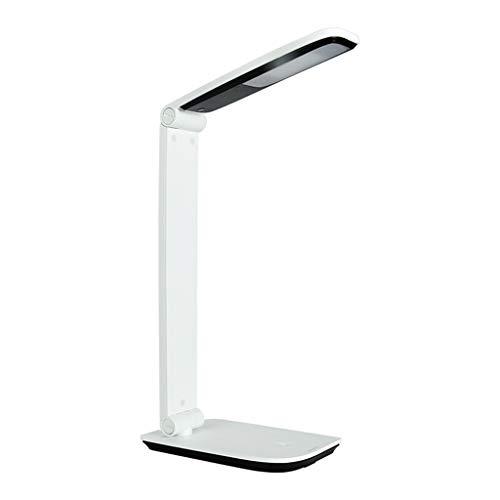 Lampe de bureau Etude de soins oculaires LED Tête réglable Pliable Dimmable Enfants Travail Lecture Lumières Touch Control Blanc