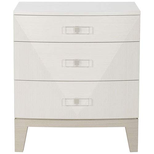 Bernhardt Axiom Linear Gray and Linear White 26-Inch Nightstand