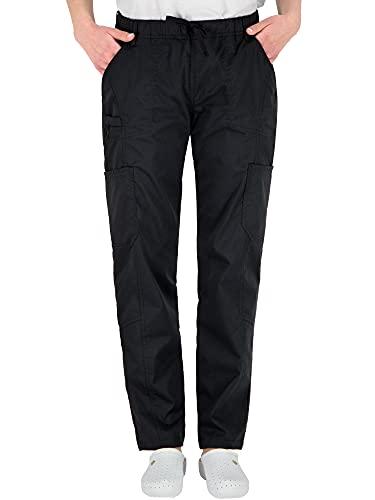 B-well Pantalones de trabajo médicos Dante con 5 bolsillos, unisex, con cintura...
