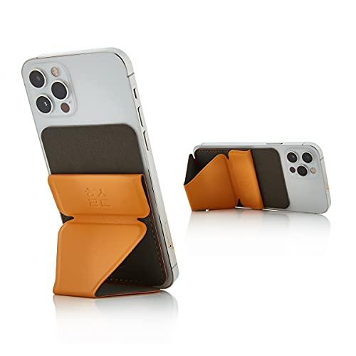 Healing Shield   Selbstklebendes Handy-Kartenhalter, magnetisches Portemonnaie & Ständer, kompatibel mit KFZ-Halterung, Slim Fit, faltbarer Kreditkartenhalter (6 Farben) (gelb)