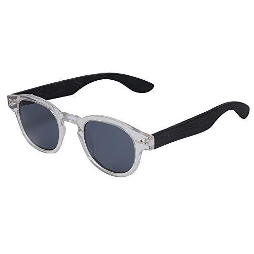 GSSTYJ Gafas de Sol de bambú y Madera polarizadas cómodas salientes Masculinas y Femeninas Regalos para Amigos y Familiares (Color : Transparent+Gray+Black)