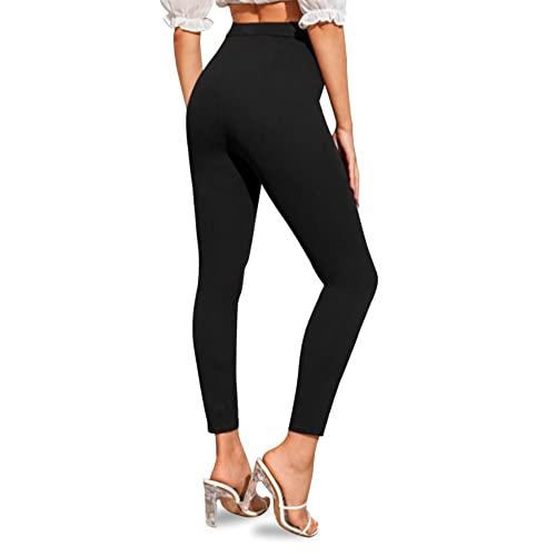 Valko Leggins Térmicos Mujer - Leggings Invierno - Leggins Afelpados - Leggin Negro - Mallas Mujer - Talla única - Elásticos con Forro de Felpa - Mallas Térmicas Mujer - Cintura Alta