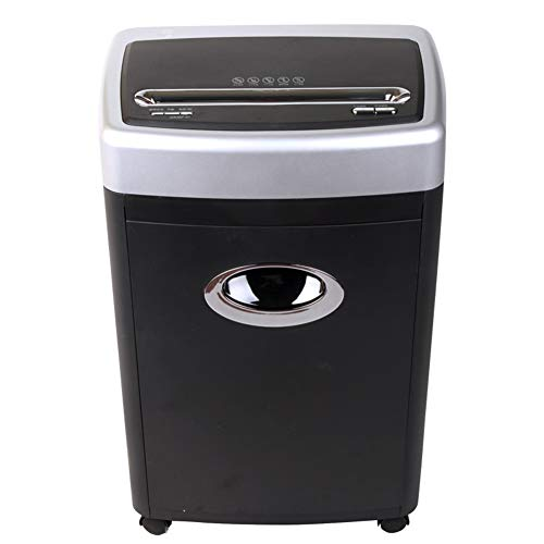 Check Out This FEE-ZC 5 Sheet Cross Cut Shredder for Home Or Home Office, 3 Litre Bin, Easy to Move with 4 Casters, Includes Shredder Oil Sheet, Black, Black