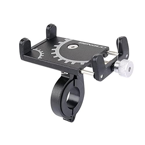 Bracketbicycle Soporte para teléfono móvil Aleación de Aluminio Teléfono Fijo Soporte GPS Soporte para Montar al Aire Libre Ciclismo Soporte para teléfono móvil BK