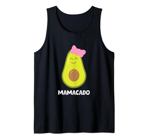 Divertido regalo para amantes del aguacate guacamole vegano aguacate mamacado Camiseta sin Mangas