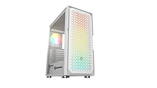 Nfortec Surtur - Torre Gaming ATX RGB con Frontal Mallado, Cristal Templado...