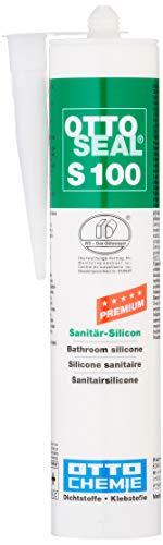 OttoSeal S100, das Premium- Sanitär- Silicon, 300ml Farbe: C01 WEISS