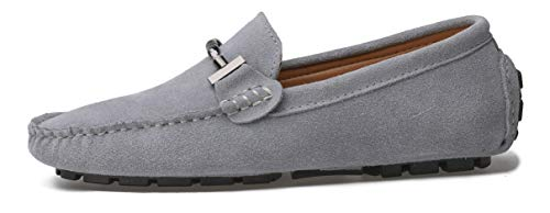 Go Tour New Mens Casual Loafers Moccasins Slip On Driving Shoes Grey 11/46