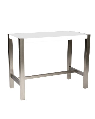 Moe's Home Collection 47 by 23 by 36-Inch Riva Counter Table, White