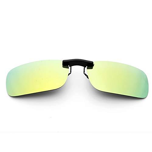新型 メガネの上からつけられる クリップオン サングラス 偏光レンズ UV400 夜間運転 偏光スポーツサングラス 付きサングラス 跳ね上げ 偏光クリップ眼鏡 紫外線カット 前掛けクリップ式サングラス 収納ケース付き 超軽量 WangToall (レモンイ