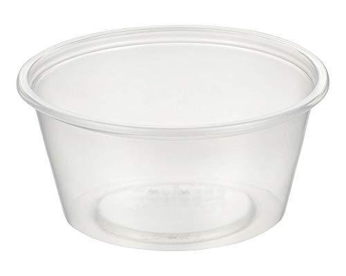 1-PACK Dressingbecher Saucenbecher 100ml, transparent, aus PP, 1000 Stück