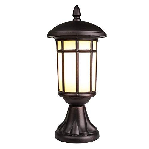 QULONG Patio Post Light Victorian Glass Stigma Bollard Lights Waterproof Fence Fence Sconce Lamp E27 Pond Column Lamp External Outdoor Table Lamp Fixture,E26/E27