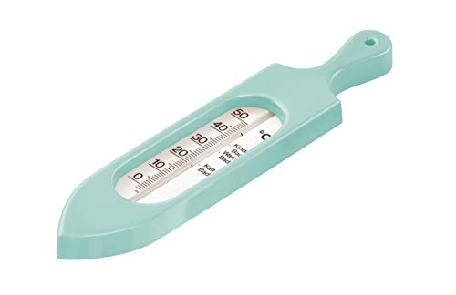 Rotho Babydesign Badethermometer, Ab 0 Monate, Quecksilberfreie Messflüssigkeit, TOP, Swedish Green (Mintgrün), 20057026601