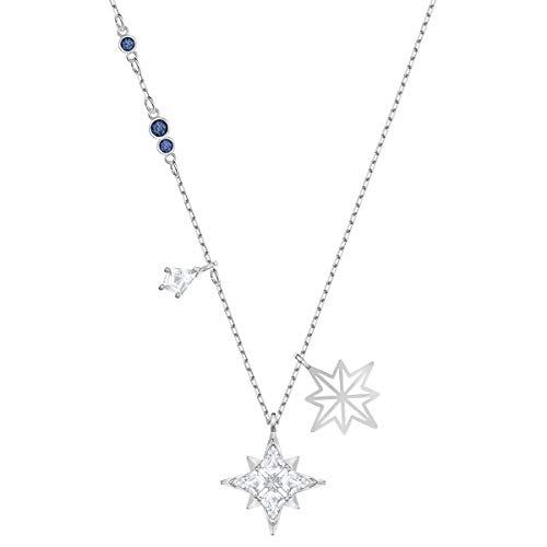 Swarovski Pendente Symbolic Star, Bianco, Placcatura Rodio