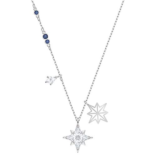 Swarovski Symbolic Star Pendant, Brilliant Swarovski Crystals, Kite-Shaped Crystals, Rhodium Plated Metal, Swarovski Symbolic Collection