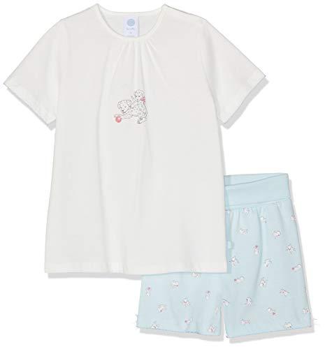 Sanetta Sanetta Baby-Mädchen Pyjama Short Zweiteiliger Schlafanzug, Beige (Broken White 1427), 104