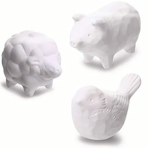 Aroma Ceramic Stone Diffuser [Made in Japan] Aromatherapy Essential Oil Diffuser, Non-Electric Eco-Friendly, Unique, Cute, Animal, Design for Women, Men, and Gifts (3pcs Set)