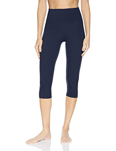 Marca Amazon - Core 10 Nearly Naked High Waist Capri Legging-21 Yoga-Leggings, Marino, US M (EU M - L)
