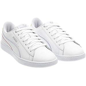 PUMA Women's Vikky V2 Sneaker - Ladies Tennis Shoes (White, 8.5)