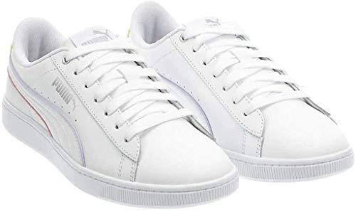 PUMA Ladies' Vikki Leather Shoe (White, Numeric_10)