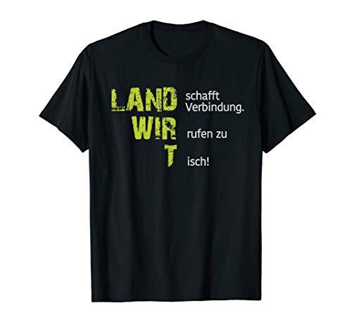 Cool Land schafft Verbindung. Wir rufen zu Tisch Landwirt T-Shirt