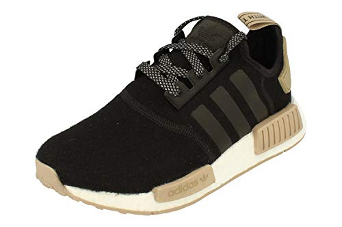 adidas Originals NMD_R1 Hommes Trainers Sneakers Chaussures (UK 4.5 US 5 EU 37 1/3, Black White Gum CQ0760)