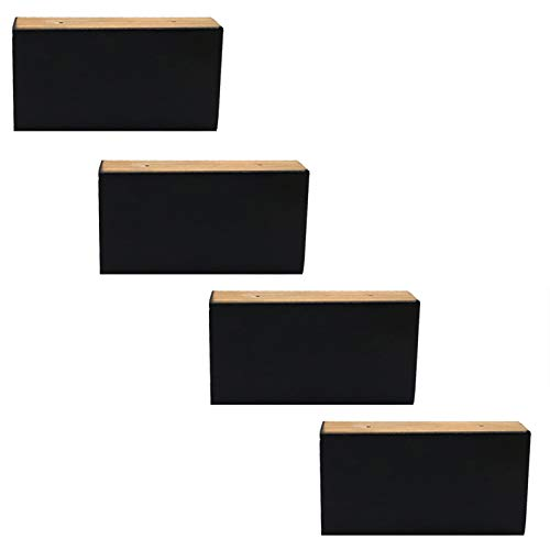 Patas De Madera Para Muebles, Patas De Madera Maciza Para Muebles Patas De Repuesto,Para Mesa/Armario/Mesa De Centro/Banco/EstanteríA/Mueble De Tv,Con Accesorios De Montaje(5cm)