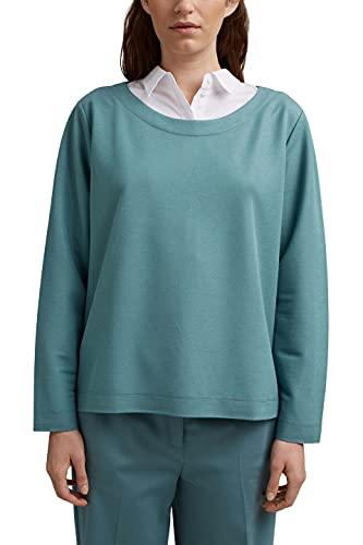 ESPRIT Collection Damen 031EO1J303 Sweatshirt, 460/DARK Turquoise, XXL