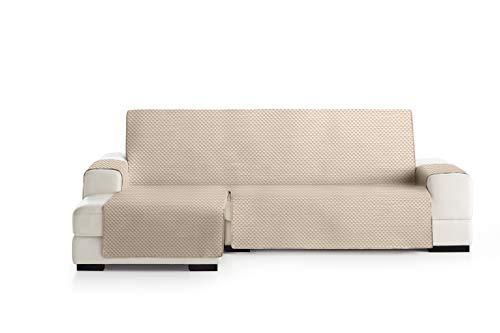 Eysa Oslo Funda, Poliéster, Beige/Crudo, Chaise Longue 240cm. Válido para sofá Desde 250 a 300cm
