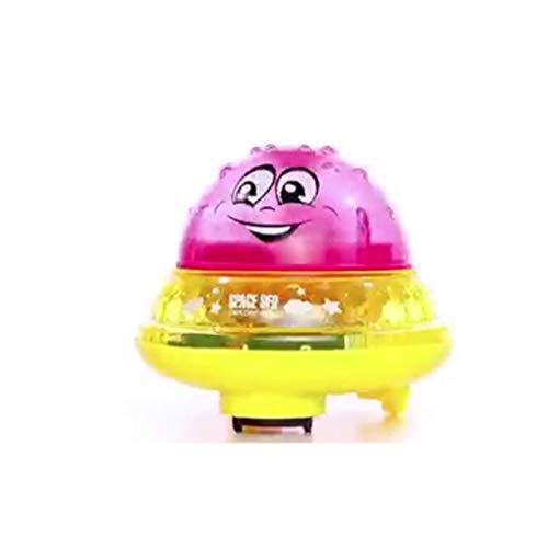 CFO Baño Juguetes 2-en-1 Inducción de Agua disperso Juguetes LED Iluminado Flotador automático Juguetes Música UFO del Espacio automático de rociadores Anfibio Juguetes para niños