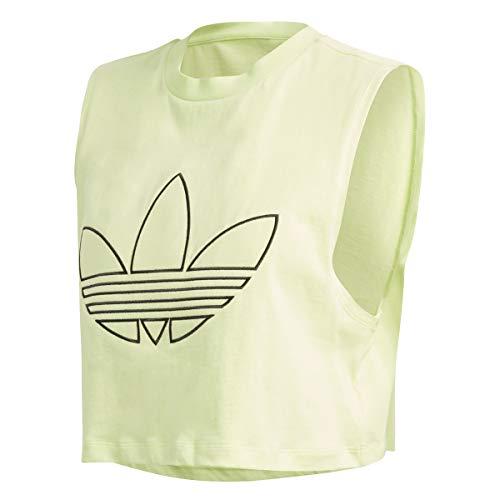 adidas Camiseta de tirantes para mujer, color amarillo, FM1926, amarillo, 32