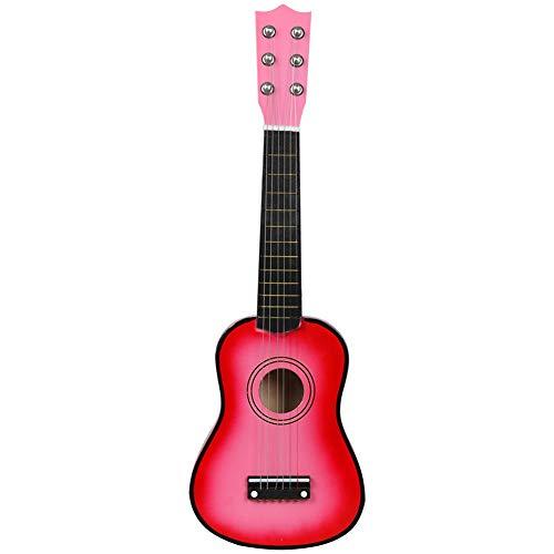 SISHUINIANHUA Mini Guitarra acústica de 21 Pulgadas Ukulele Guitarra clásica Musical Instrumental Instructor de Madera Principiante Música Amantes Niños Regalo,5