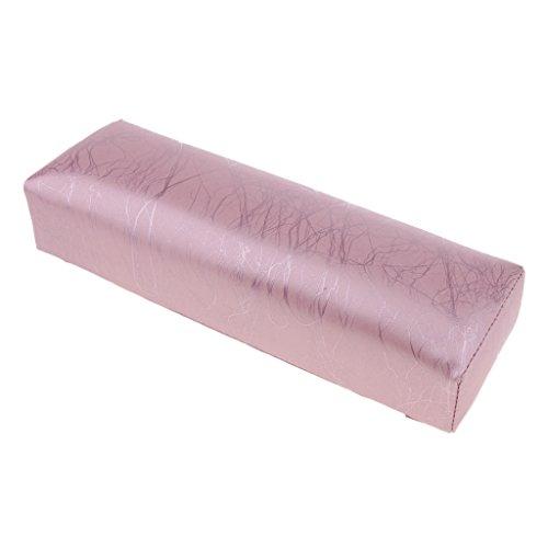 Homyl Coussin Repose en Cuir PU Eponge Main Support Lavable pour Manucure - Rose