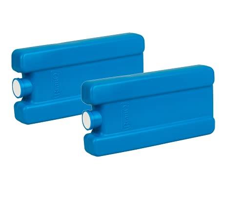 BranQ - Home essential Kühleinlage 250 ml für Touristenkühlschränke für Lunch, Kühltasche und Kühlbox, Kuchenbehälter, 2 Stücke, aus hochwertigem BPA-frei, Blau, 165 x 80 x 25 mm, Kunststoff PP