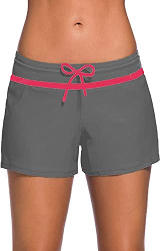 BenBoy Pantaloncini Mare Donna Pantaloncini da Bagno Drawstring Regolabile Asciugatura Rapida Pantaloncino Nuoto
