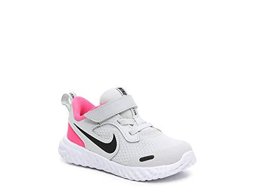 Nike Revolution 5 (TDV), Scarpe da Ginnastica Unisex-Bambini, Photon Dust/Black-Hyper Pink-White, 22 EU