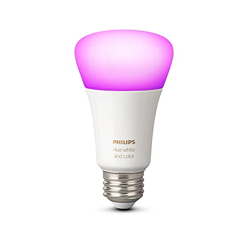 Philips Hue 548487 Smart Light Bulb, 1, White and Color Ambiance (16 Million Colors)