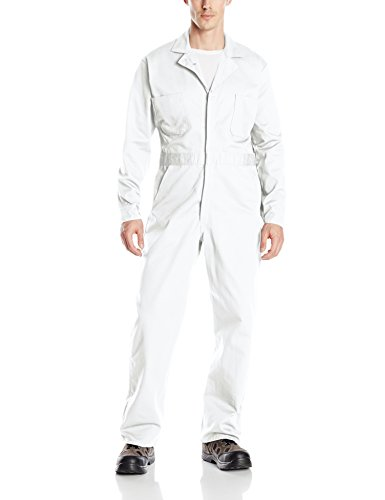 Red Kap Men's Button Front Cotton Coverall, White, 52