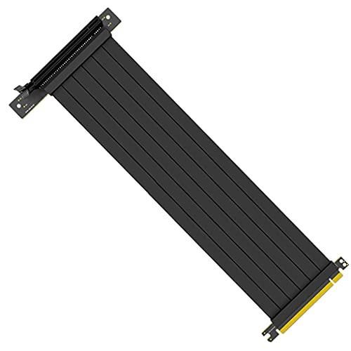 Changzhou Cable de extensión de tarjeta gráfica PCIE X16 de velocidad completa 3.0 PCIE X16 Cable de extensión de tarjeta gráfica PCI Express Riser apantallado con Antijam para GPU Vertical