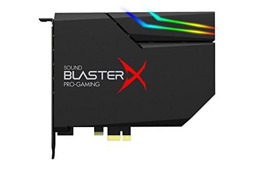 Creative Sound BlasterX AE-5 - Scheda audio PCIe e DAC da gioco ad alta risoluzione, Amplificatore per cuffie 600 Ohm con una striscia LED (30cm/10 LED)