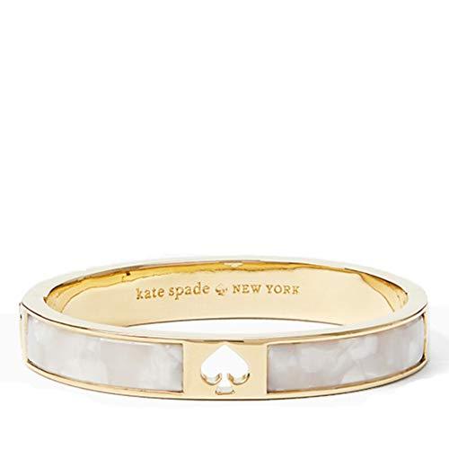 Kate Spade New York 'Hole Punch Spade Hinge Bangle' Pearl Bracelet