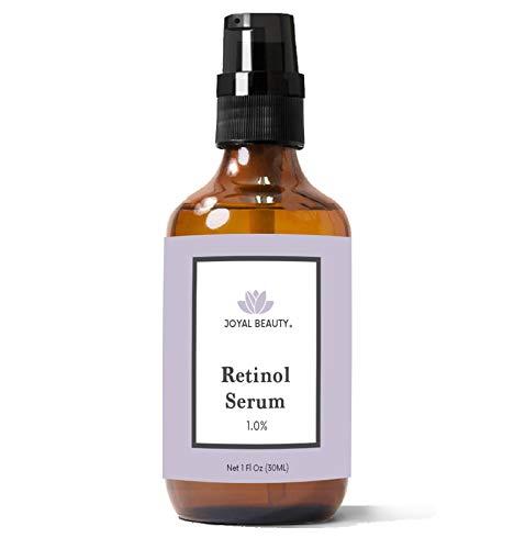 Joyal Beauty Organic Retinol Serum for Face Skin Eyes Neck. Best for Anti-Aging Firming Fine Lines Anti Wrinkle Acne Pores Skin Tones. Advanced Premium Retinol Night Serum. 1.0%. 1 oz.