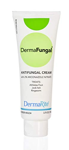 Athlete's Foot Antifungal Cream - Treats Jock Itch, Ringworm and Dry Itchy Skin - 2% Miconazole Nitrate – Latex Free, Dermatologist Tested, 3.75 Oz – DermaFungal by DermaRite