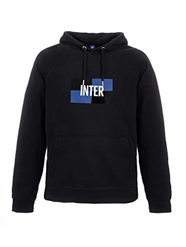 Inter New Logo - Felpa con Cappuccio Black