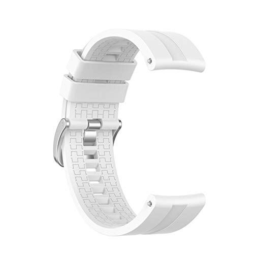 LAAGFC Correa de reloj de 22 mm para Huawei Watch GT 2, 46 mm/42 correas para pulsera inteligente Honor Magic (color de la correa: blanco, ancho de la correa: Huawei Watch GT)