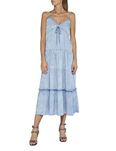 Replay Damen W9557 .000.54C 412 Kleid, Blau (Medium Blue 9), Small (Herstellergröße: S)
