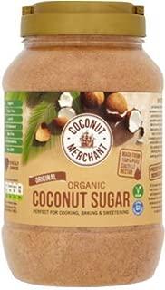Coconut Merchant Organic Coconut Sugar 35.2 Oz (1kg)   Low GI Unrefined Brown Sugar from Coconut Nectar Blossom - 35.2 Oz