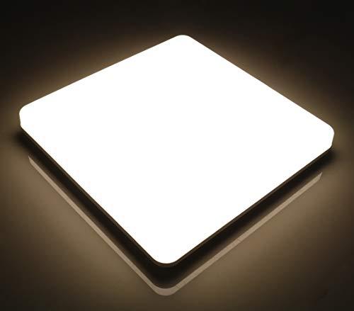 Lamker Led Deckenleuchte 24W Deckenlampe IP44 Wasserfest Neutralweiß Weiß 4000K 2050LM Panel Kein Flimmern Lampe für Schlafzimmer Badezimmer Balkon Flur Bad Küche Wohnzimmer Ersetzt 150W